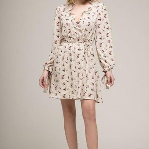 Moon River Cream Floral Dress Size S New